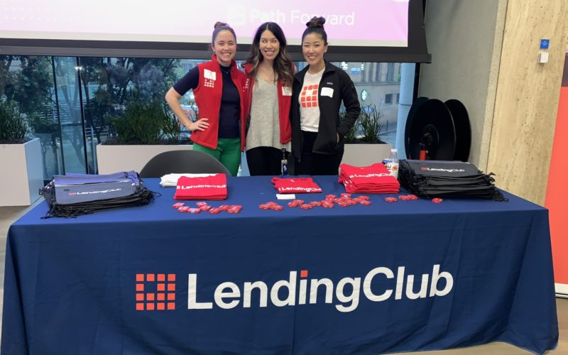 Recruiters from LendingClub get ready to meet caregivers returning from career breaks